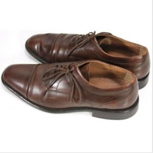 Tasso Elba Men's Cap Toe Dress Shoes Size 9 Brown